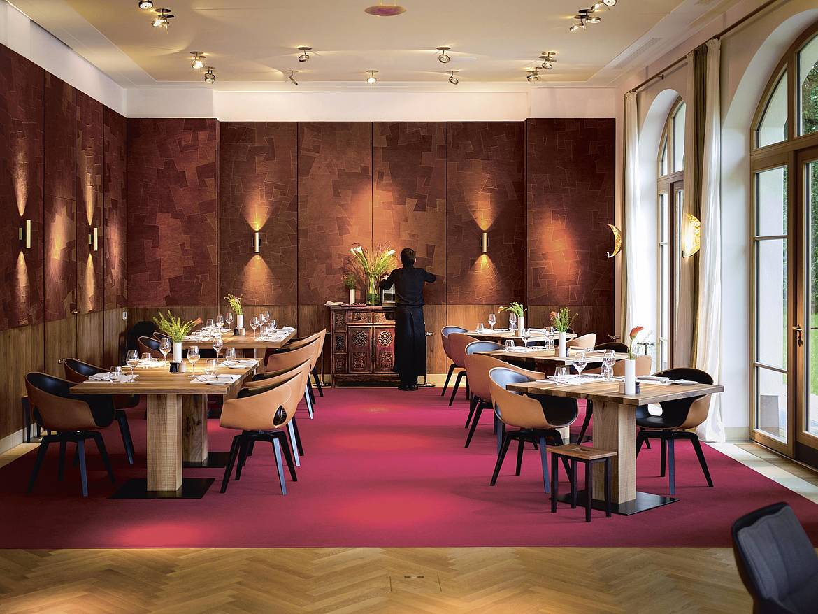 [Translate to English:] Fine Dining Restaurant Summit im Retreat von Schloss Elmau