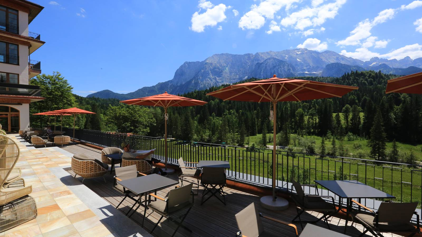 Terrasse Schloss Elmau Retreat