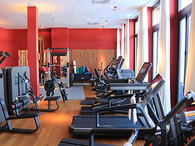 [Translate to English:] Fitness Gym im Schloss Elmau Retreat