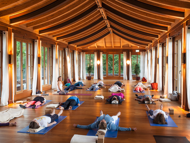 [Translate to English:] Yoga Retreat mit Barbra Noh im Yoga Pavillon